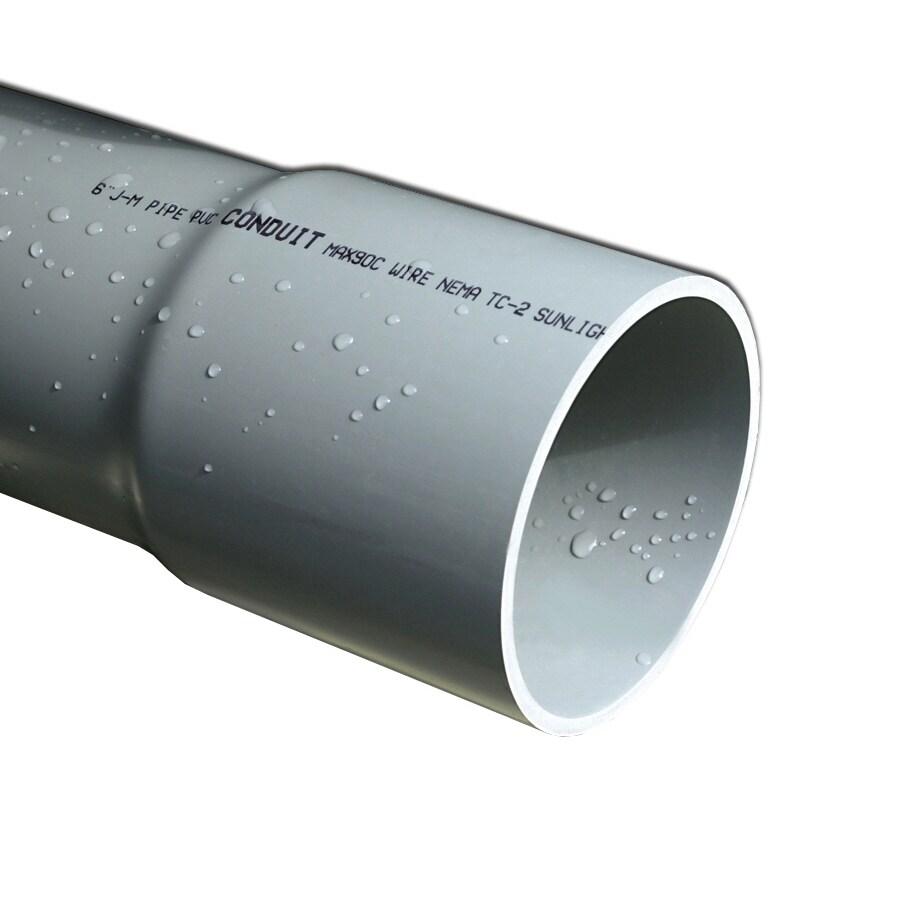 JM Eagle PVC 10-ft Conduit (Common: 3/4-in; Actual: 0.82-in)