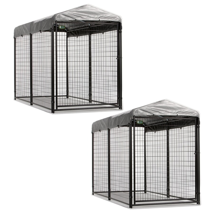 8-ft x 7.8-ft x 6-ft Outdoor Dog Kennel Preassembled Kit