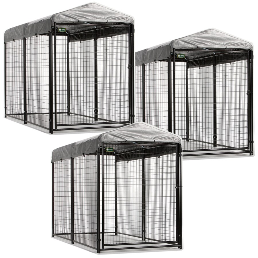 AKC 8-ft x 9.5-ft x 6-ft Outdoor Dog Kennel Preassembled Kit