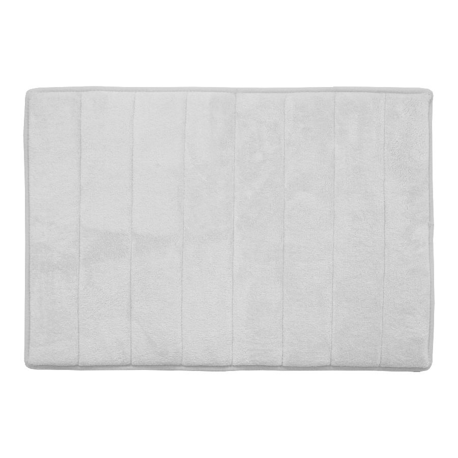allen + roth 24-in x 17-in Memory Foam White Polyester Bath Mat