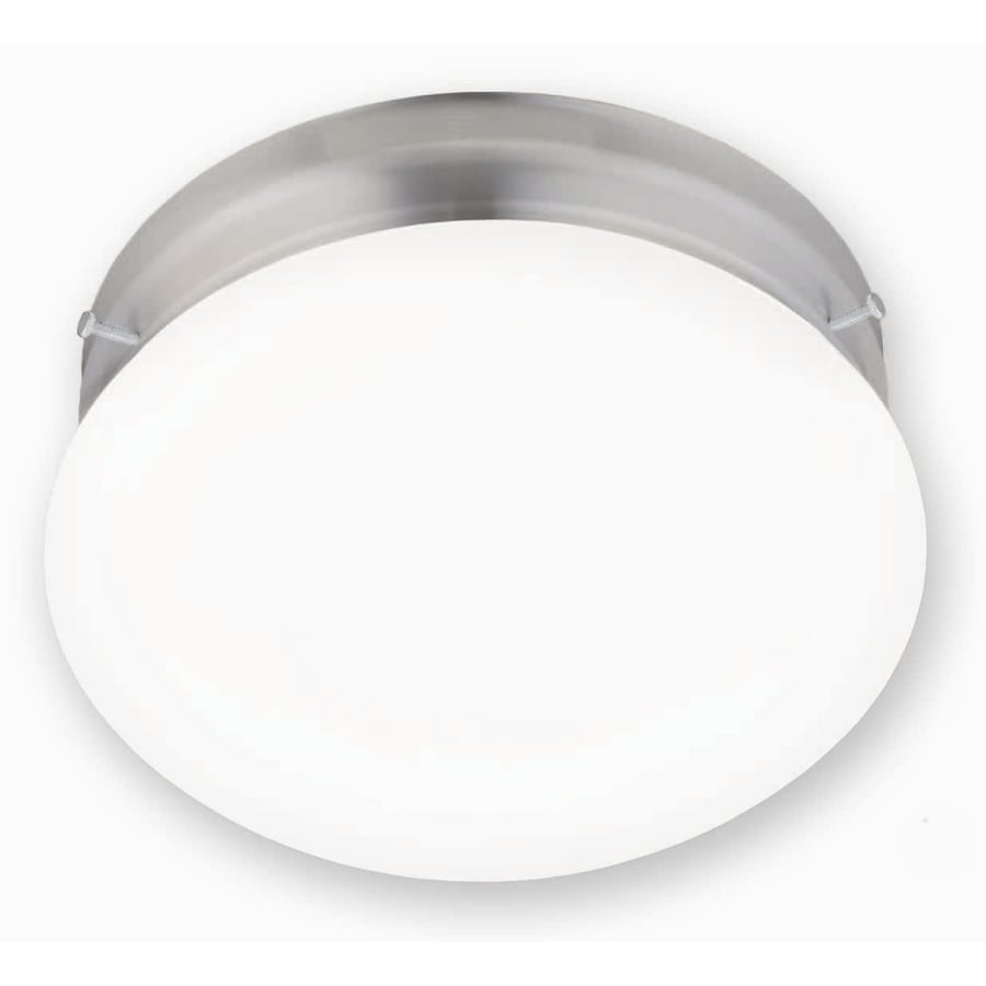 Portfolio 9-in W Brushed Nickel Ceiling Flush Mount Light