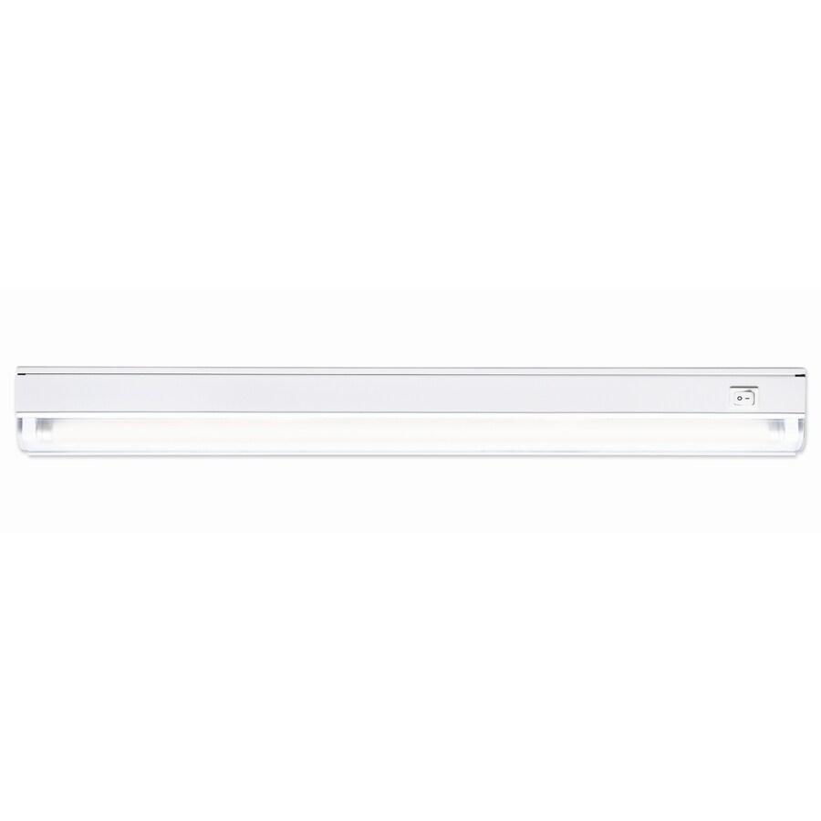 Utilitech 22.87-in Hardwired/Plug-in Under Cabinet Fluorescent Light Bar