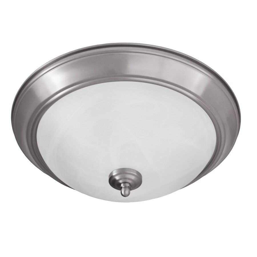 Good Earth Lighting Taverna 15.25-in W Brushed Nickel Ceiling Flush Mount Light