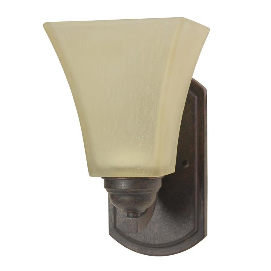 Good Earth Lighting Metropolitan 5.5-in W 1-Light Bronze Arm Hardwired Wall Sconce