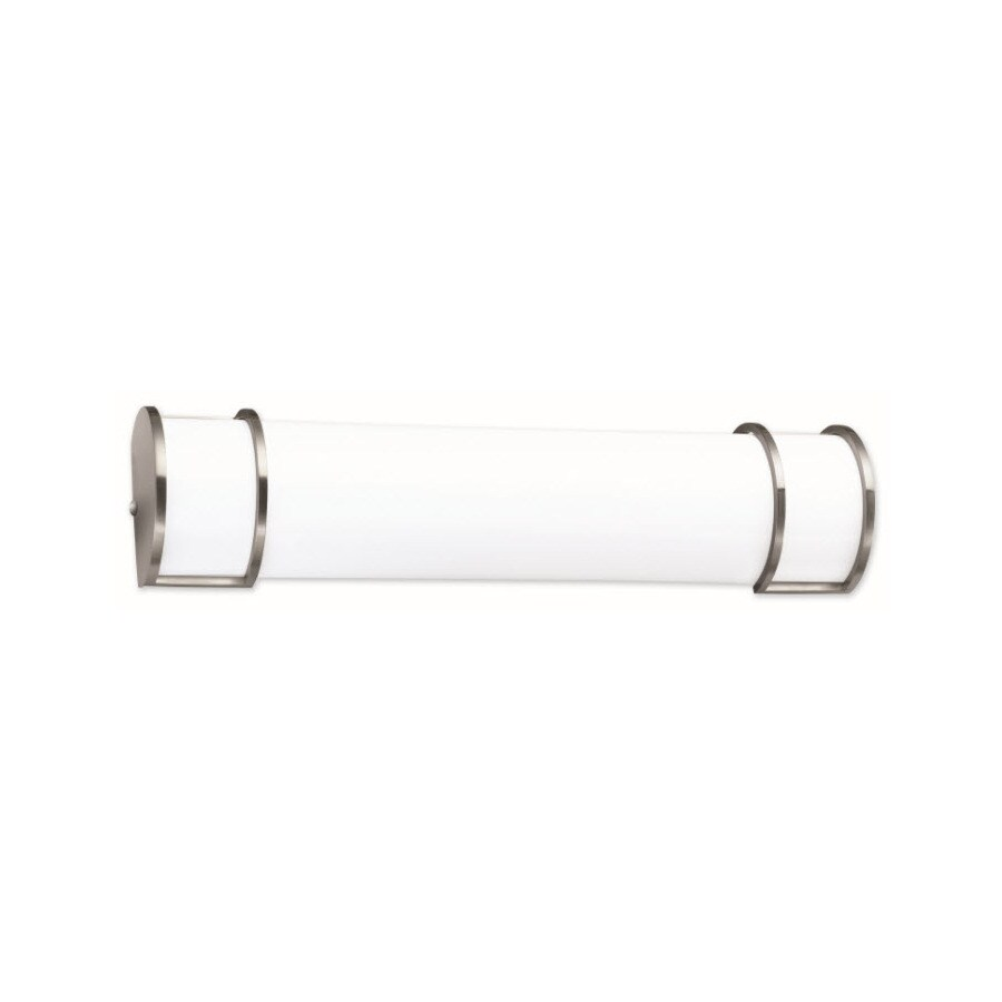 Portfolio New Castle 2-Light Brushed Nickel Vanity Light