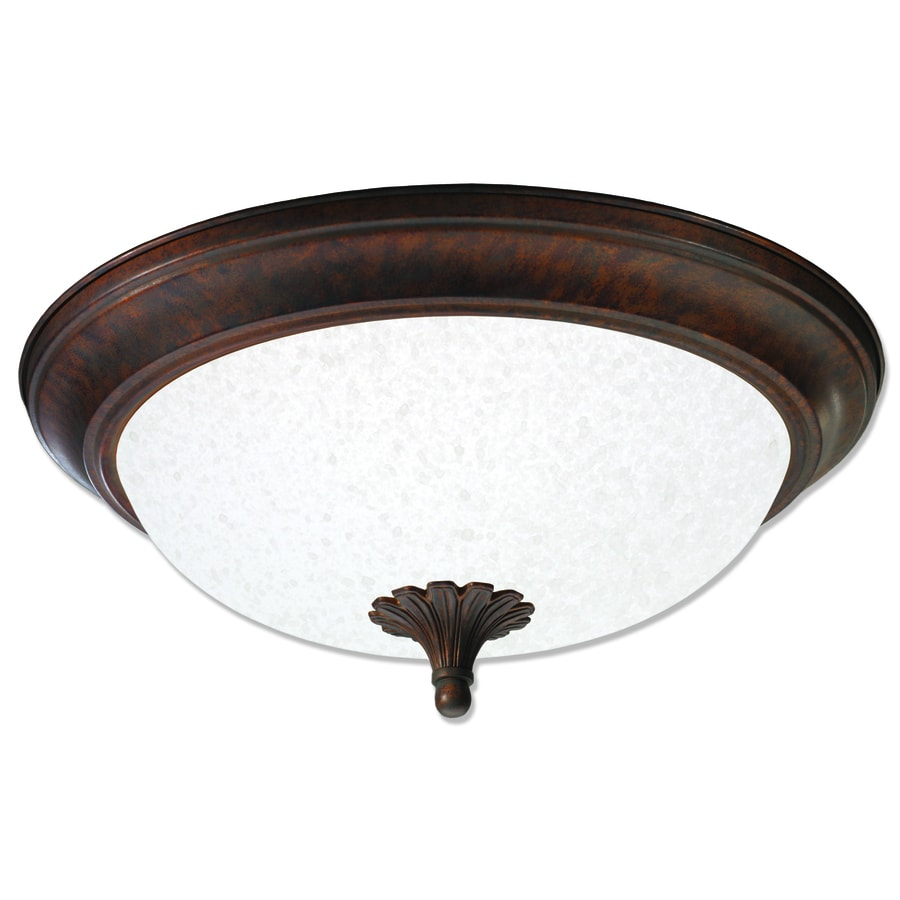 Good Earth Lighting Barrington 15.25-in W Antique Bronze Ceiling Flush Mount