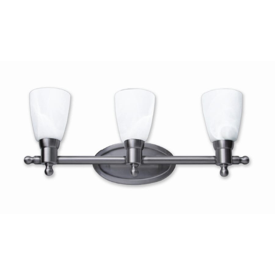 Good Earth Lighting 3-Light Danube Nickel Bathroom Vanity Light