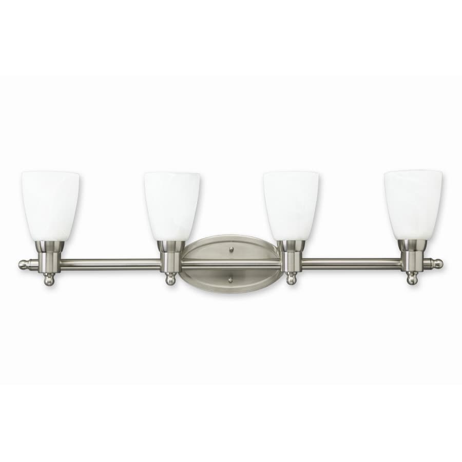 Good Earth Lighting 4-Light Danube Nickel Bathroom Vanity Light