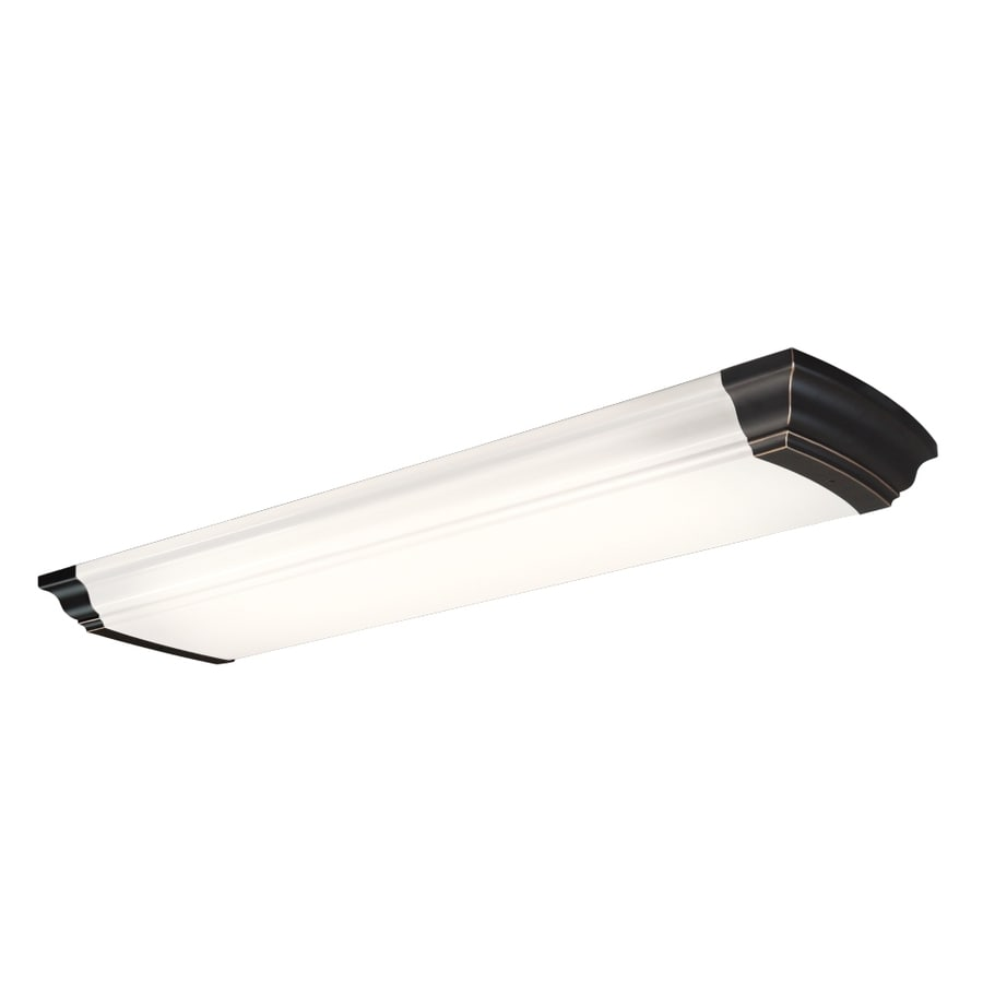 Kitchen Lighting Fluorescent: Shop Portfolio White Acrylic Ceiling Fluorescent Light