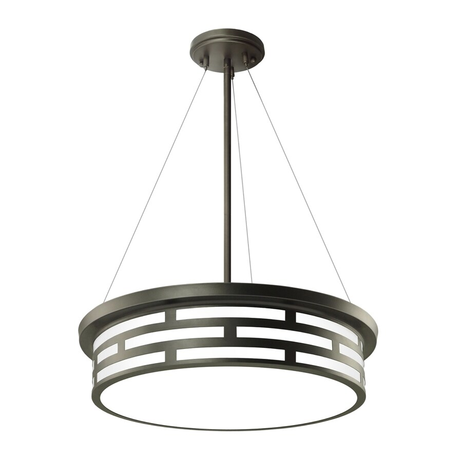 Good Earth Lighting Pisa 17-in Dark Bronze Single Pendant