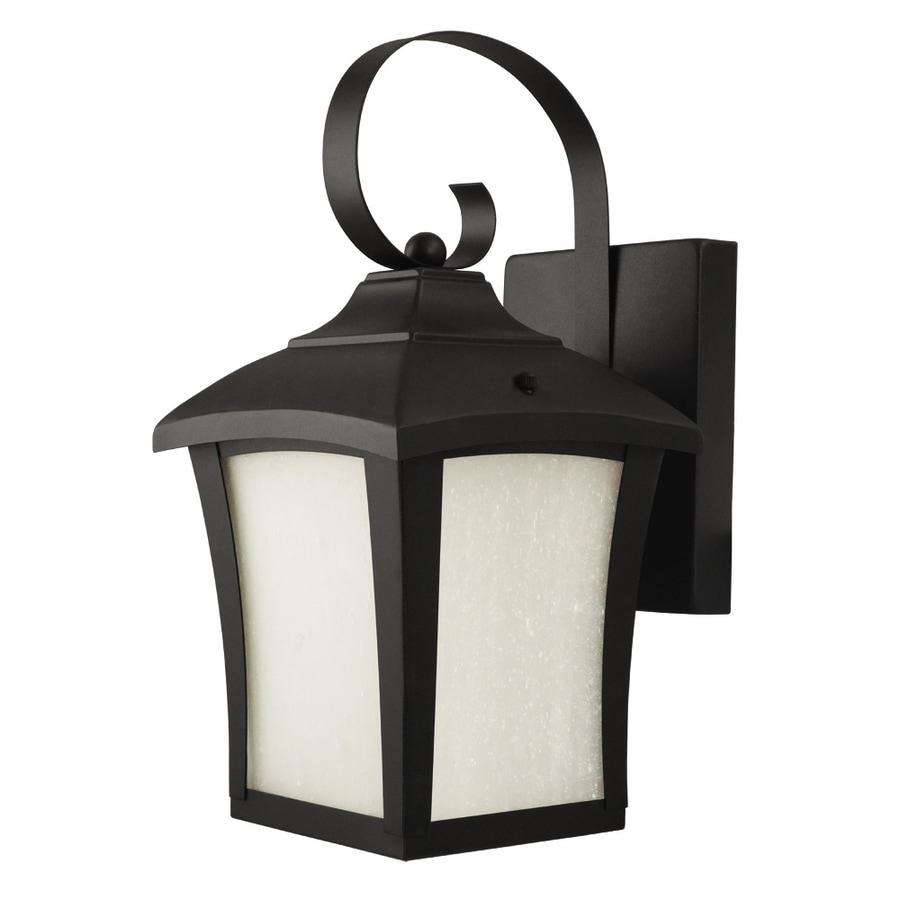 Good Earth Lighting 12-in H Black Outdoor Wall Light