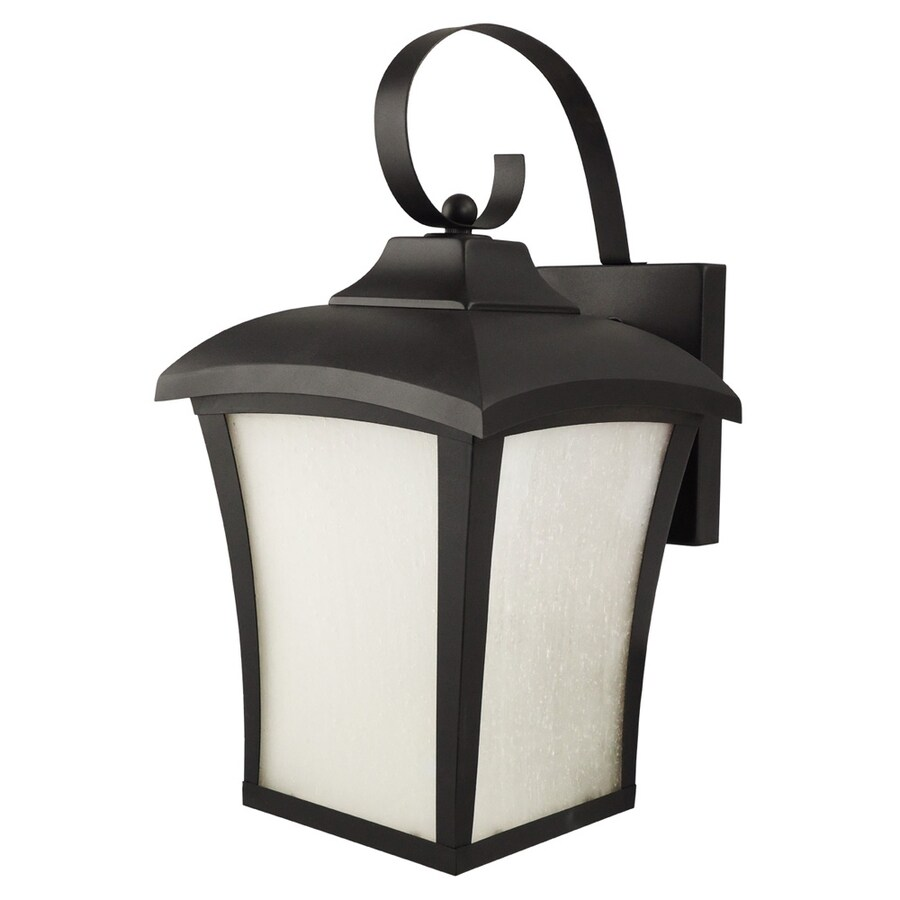 Good Earth Lighting 14.5-in H Black Outdoor Wall Light