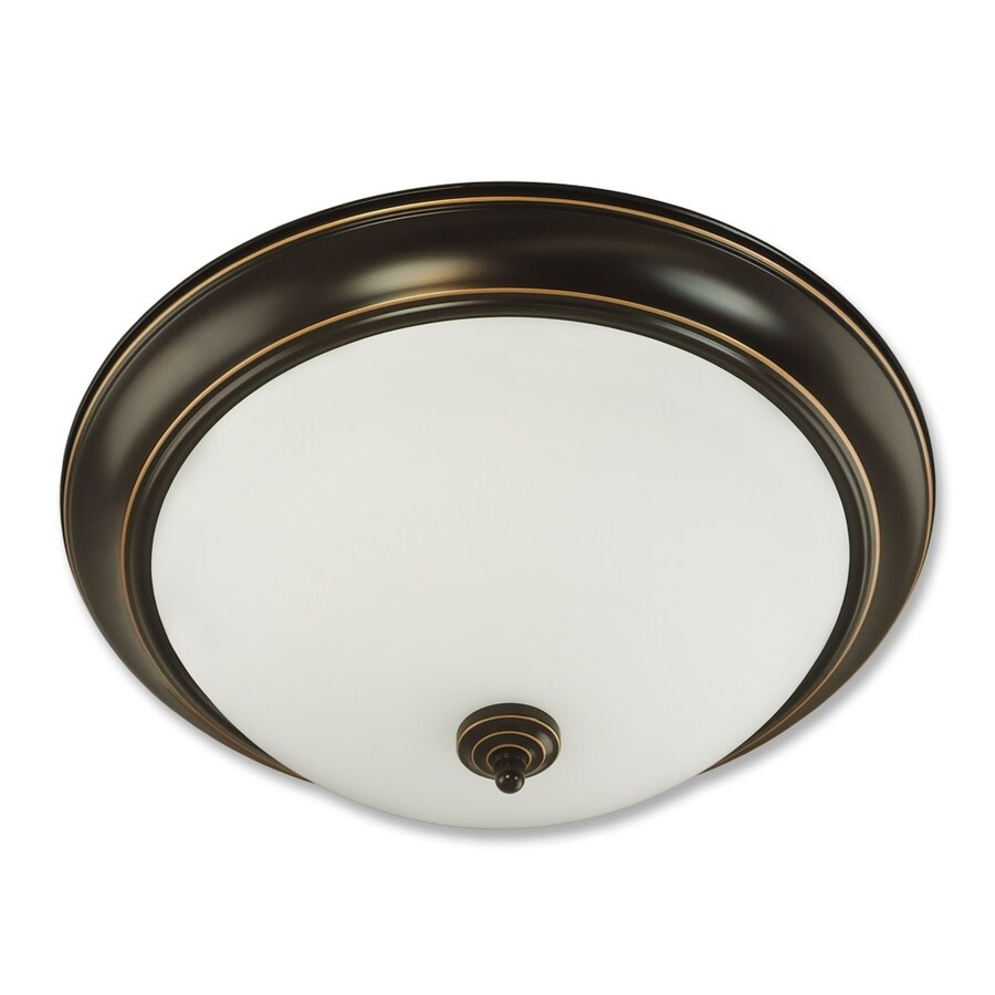 Good Earth Lighting Brentwood 19.37-in W Oil Rubbed Bronze Ceiling Flush Mount Light
