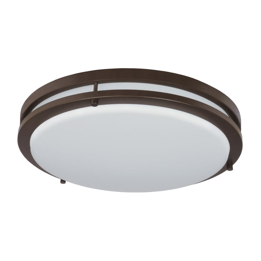 shop good earth lighting jordan 14 in w light bronze led ceiling flush mount light at. Black Bedroom Furniture Sets. Home Design Ideas