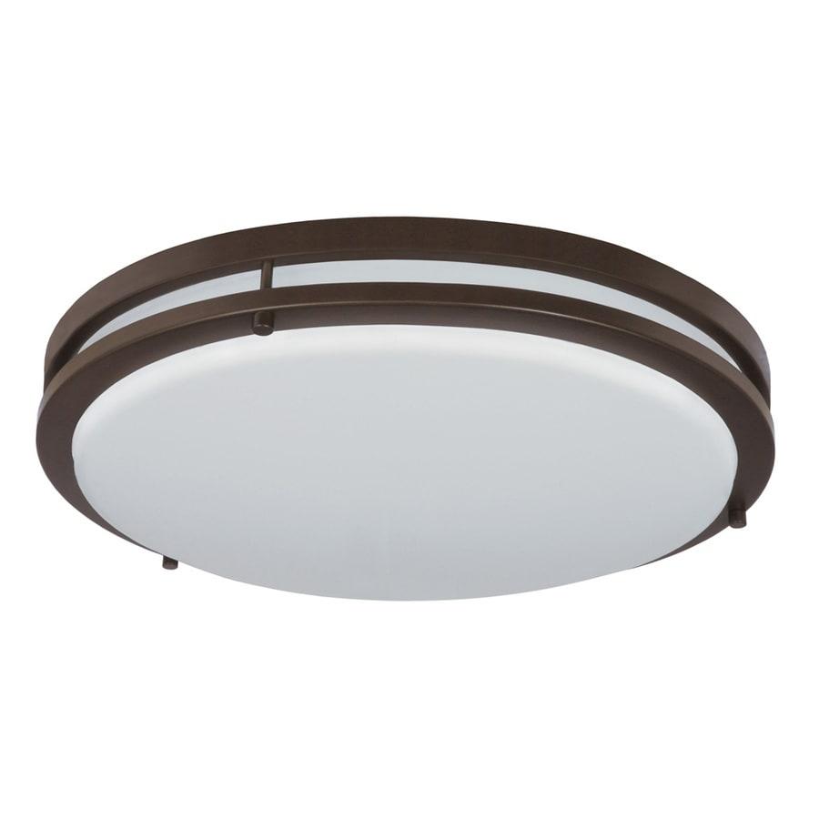 Shop good earth lighting jordan 17 in w light bronze led flush mount light at lowes com