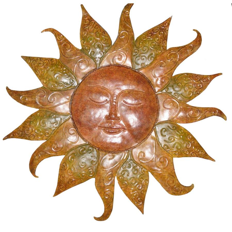 Garden Treasures 23-in H Sunface Garden Statue