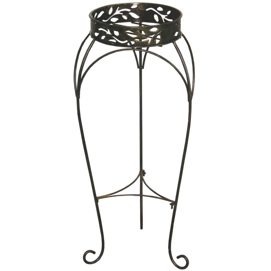 Shop Garden Treasures 30 In Tall Cabin Leaf Plant Stand 2