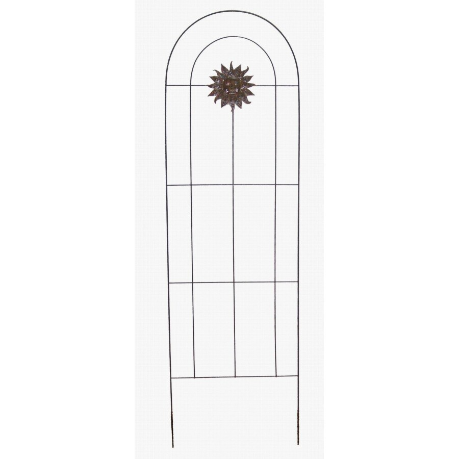Garden Treasures 22-in W x 72-in H Black Garden Trellis