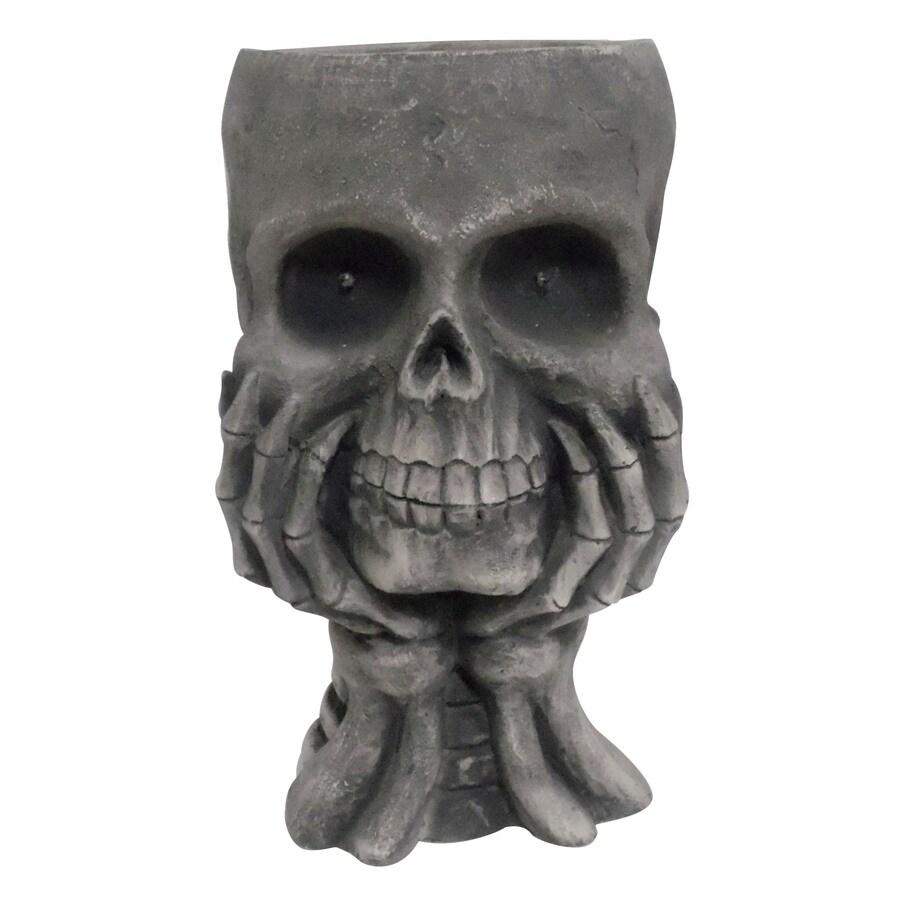 1-Piece Skull with Hands Outdoor Halloween Decorations