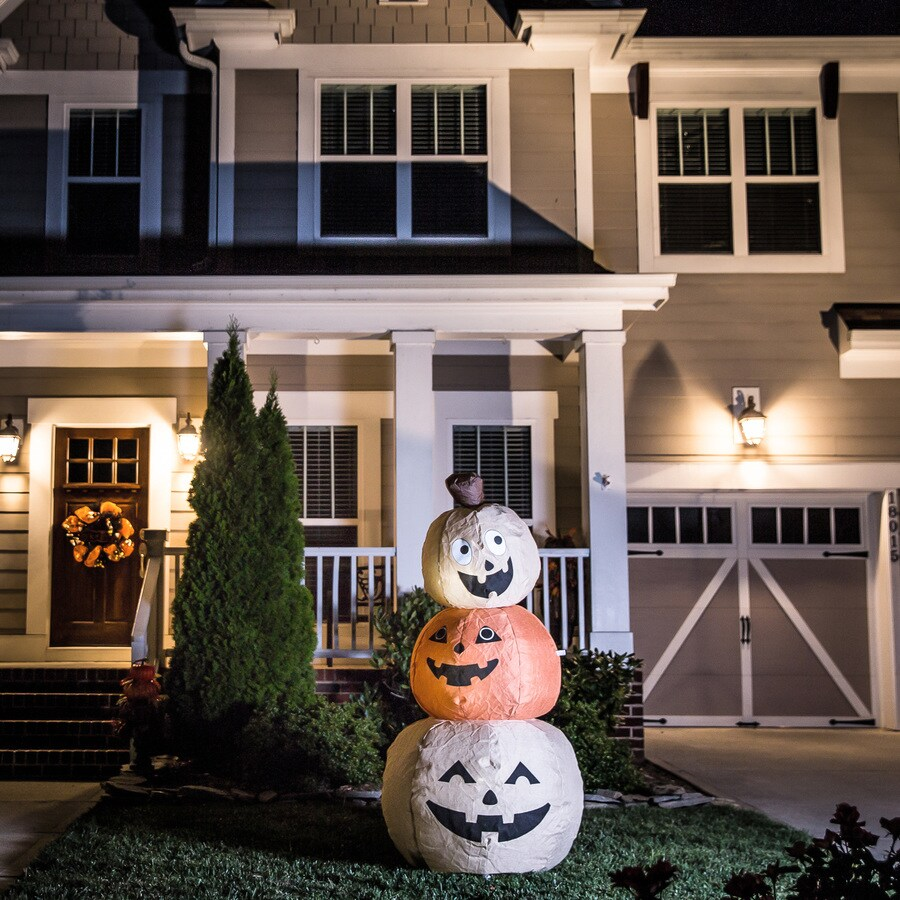 95 Amazing Outdoor Christmas Decorations: Shop Holiday Living 5.91-ft X 2.95-ft Lighted Pumpkin