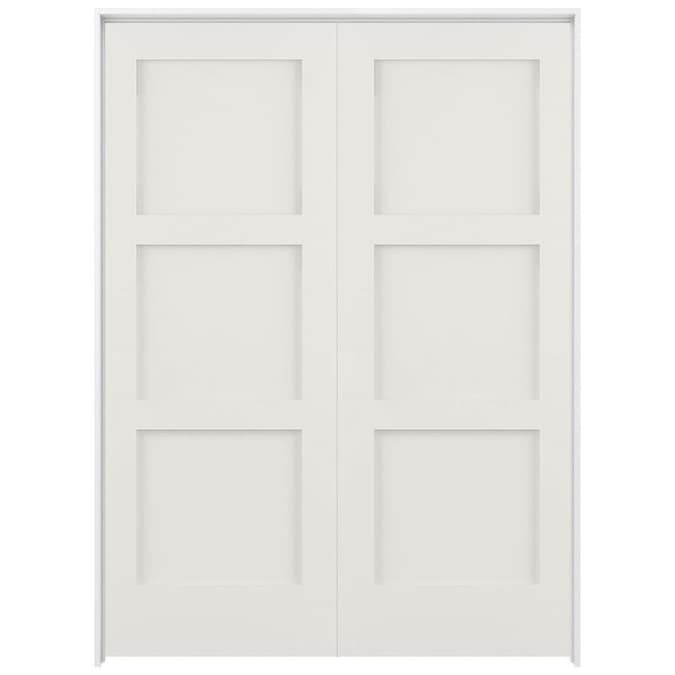 ReliaBilt Shaker 64-in x 80-in Snow Storm 3-Panel Square