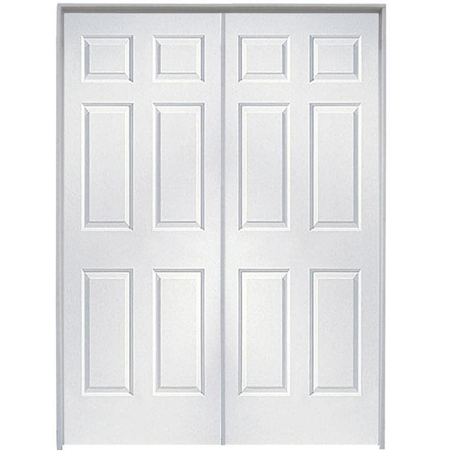 Shop reliabilt prehung hollow core 6 panel french interior door common 48 in x 80 in actual