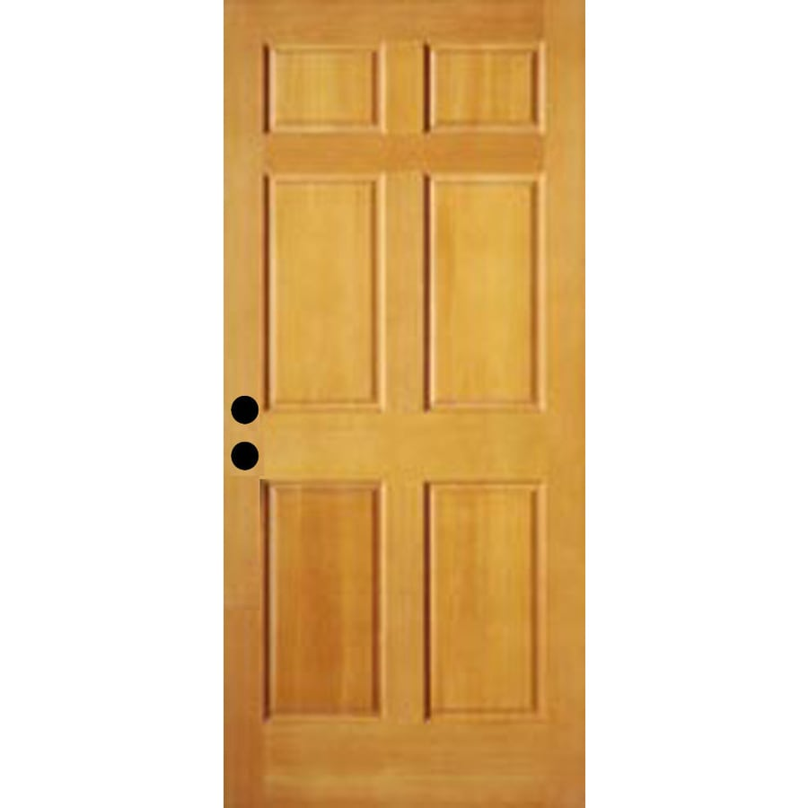 shop reliabilt 6 panel solid wood core entry door common