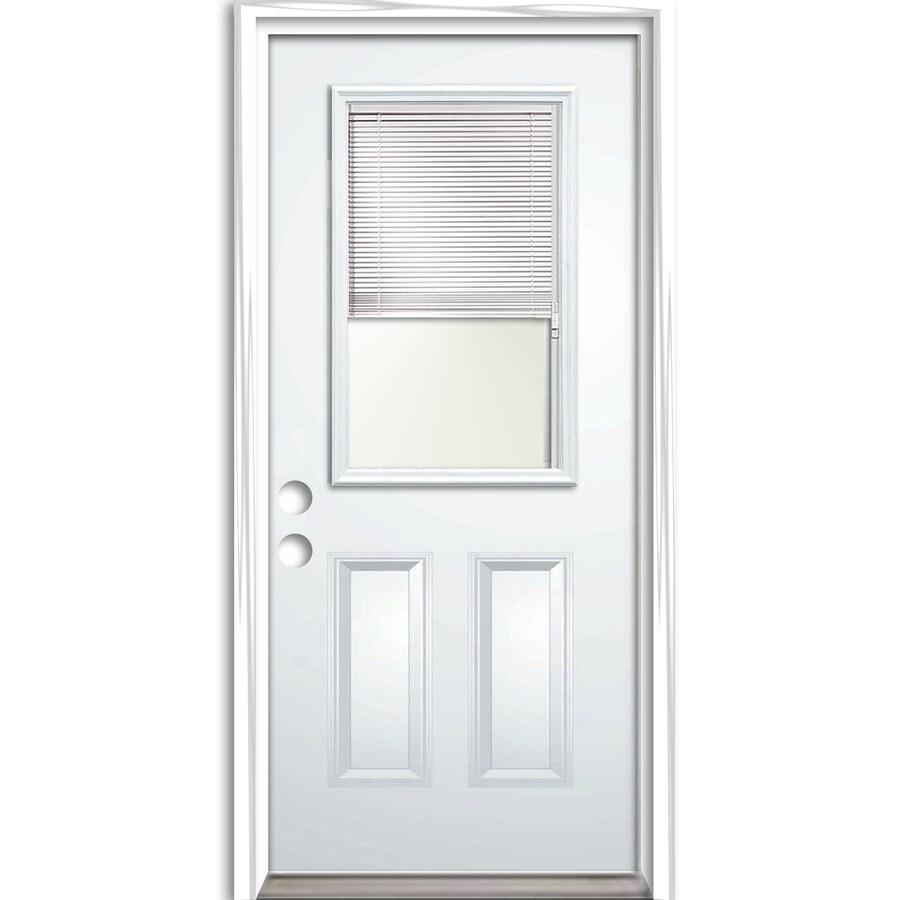 ReliaBilt Prehung Entry Door (Common: 32-in x 80-in; Actual: 33.5-in x 81.75-in)