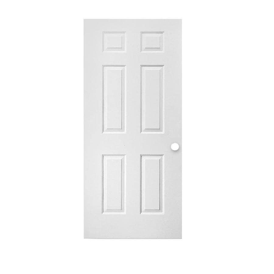 ReliaBilt 6-Panel Insulating Core Universal Reversible Steel Primed Slab Entry Door (Common: 32-in x 80-in; Actual: 31.75-in x 79.0625-in)