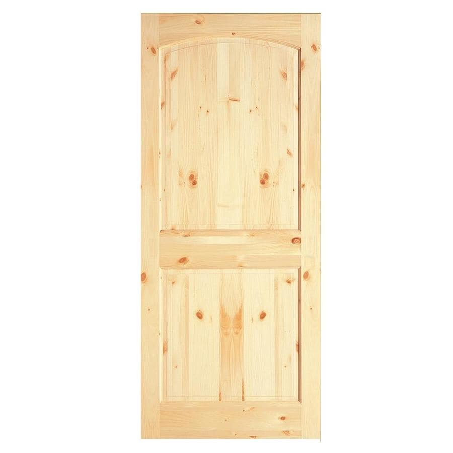 ReliaBilt 2-Panel Arch Top Knotty Pine Slab Interior Door (Common: 36-in x 80-in; Actual: 36-in x 80-in)