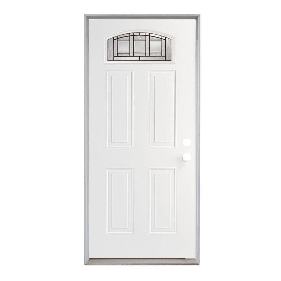 ReliaBilt Fiberglass Prehung Entry Door (Common: 36-in x 80-in; Actual: 37.5-in x 81.75-in)