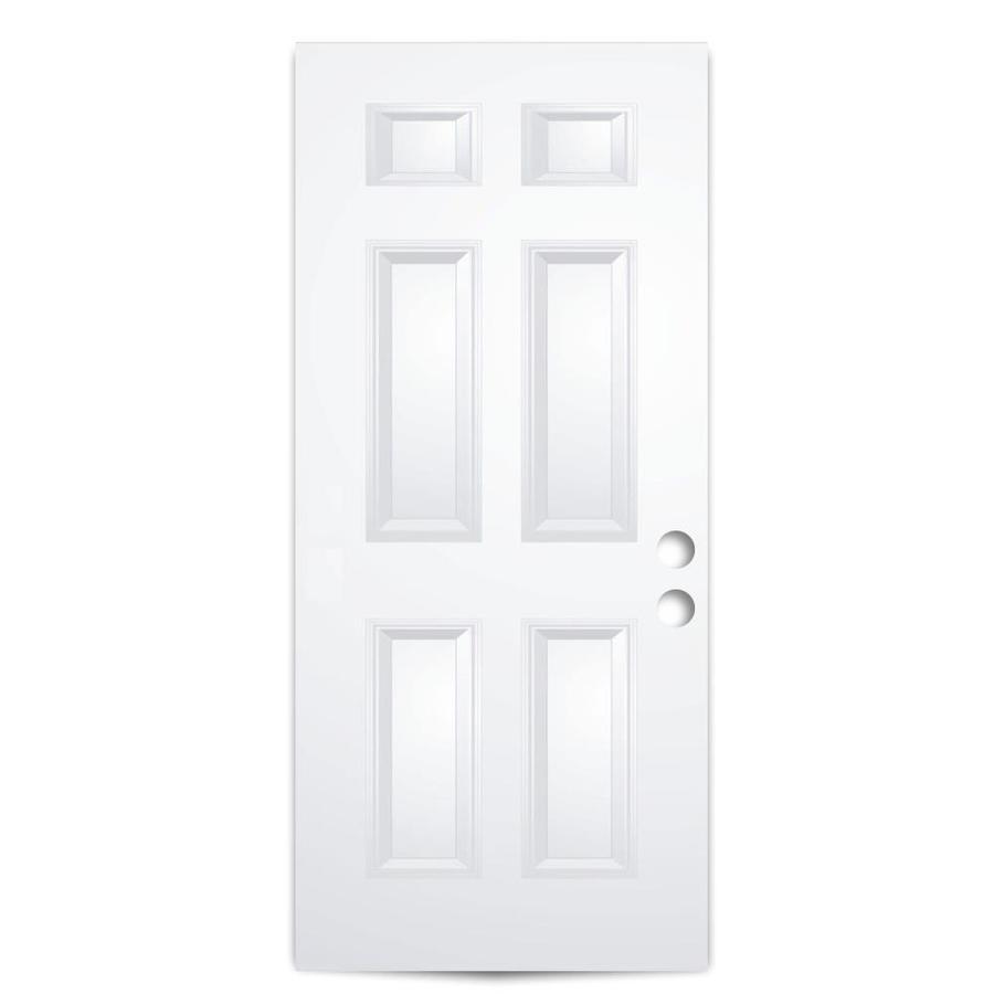 ReliaBilt 6-Panel Insulating Core Slab Entry Door (Common: 32-in x 80-in; Actual: 31.75-in x 79.0625-in)