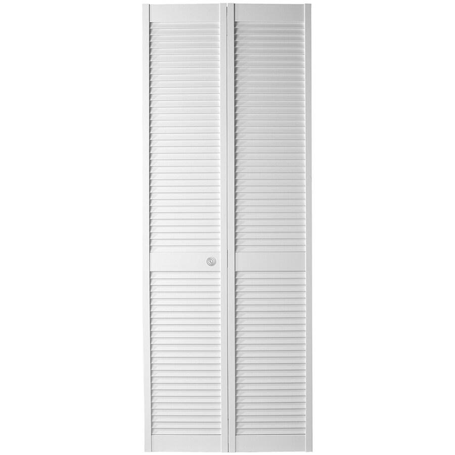 ReliaBilt White Full Louver Bi-Fold Closet Interior Door (Common: 24-in x 80-in; Actual: 23.5-in x 79-in)