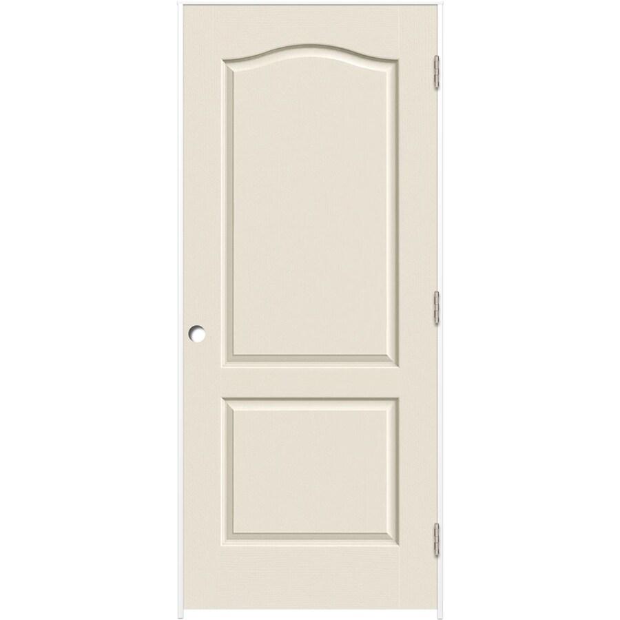 ReliaBilt Prehung Hollow Core 2-Panel Arch Top Interior Door (Common: 24-in x 80-in; Actual: 25.5-in x 81.5-in)