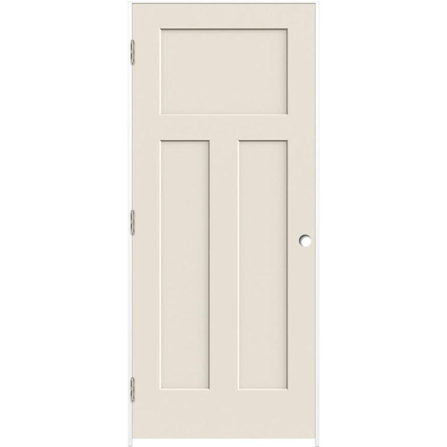 ReliaBilt Prehung Hollow Core 3-Panel Craftsman Interior Door (Common: 28-in x 80-in; Actual: 29.5-in x 81.5-in)