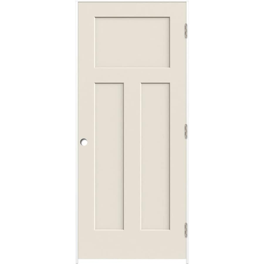 ReliaBilt Prehung Hollow Core 3-Panel Craftsman Interior Door (Common: 36-in x 80-in; Actual: 37.5-in x 81.5-in)