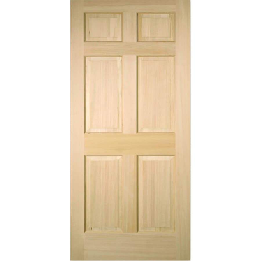 ReliaBilt 6-Panel Fir Slab Interior Door (Common: 36-in x 80-in; Actual: 36-in x 80-in)
