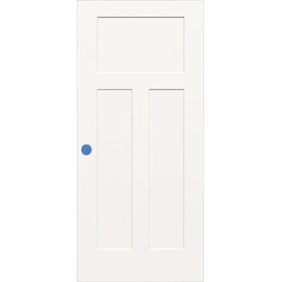 ReliaBilt Hollow Core 3-Panel Craftsman Slab Interior Door (Common: 32-in x 80-in; Actual: 32-in x 80-in)