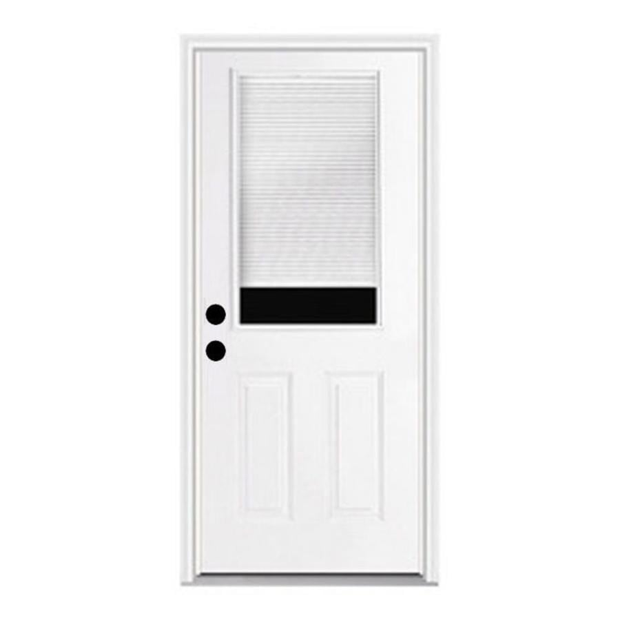 ReliaBilt Fiberglass Prehung Entry Door (Common: 30-in x 80-in; Actual: 31.5-in x 81.75-in)