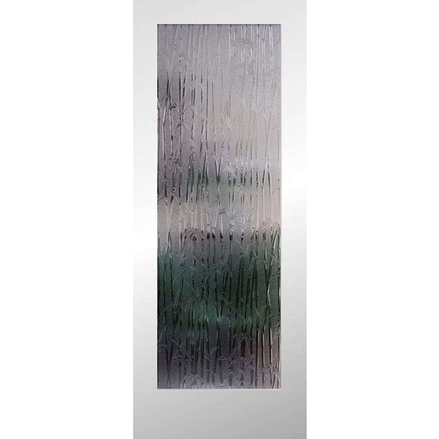 Shop Reliabilt Full Lite Patterned Glass Pine Slab Interior Door Common 24 In X 80 In Actual