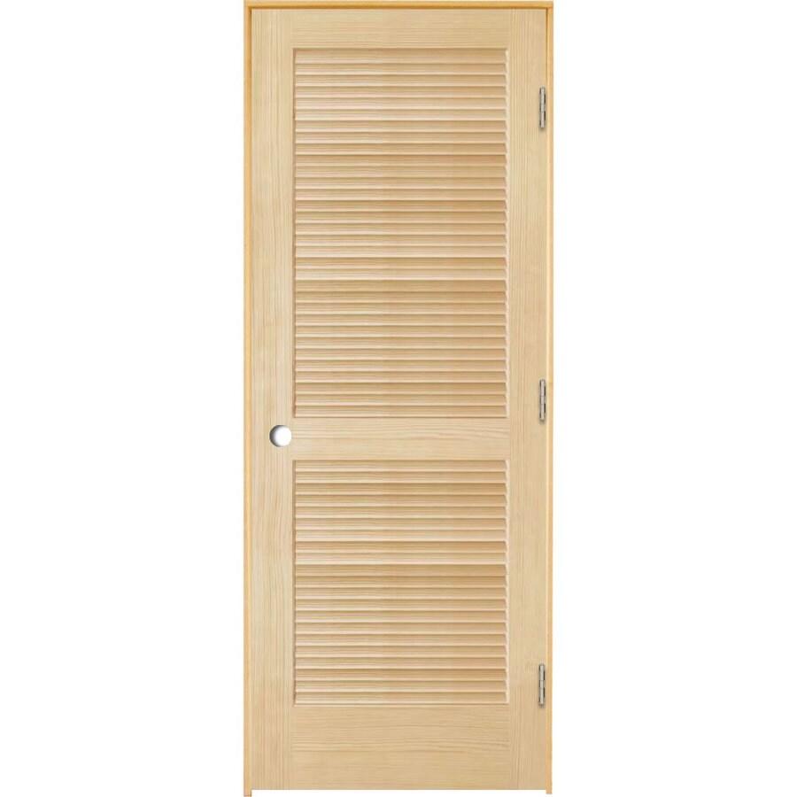 ReliaBilt Prehung Full Louver Pine Interior Door (Common: 36-in x 80-in; Actual: 37.5-in x 81.25-in)