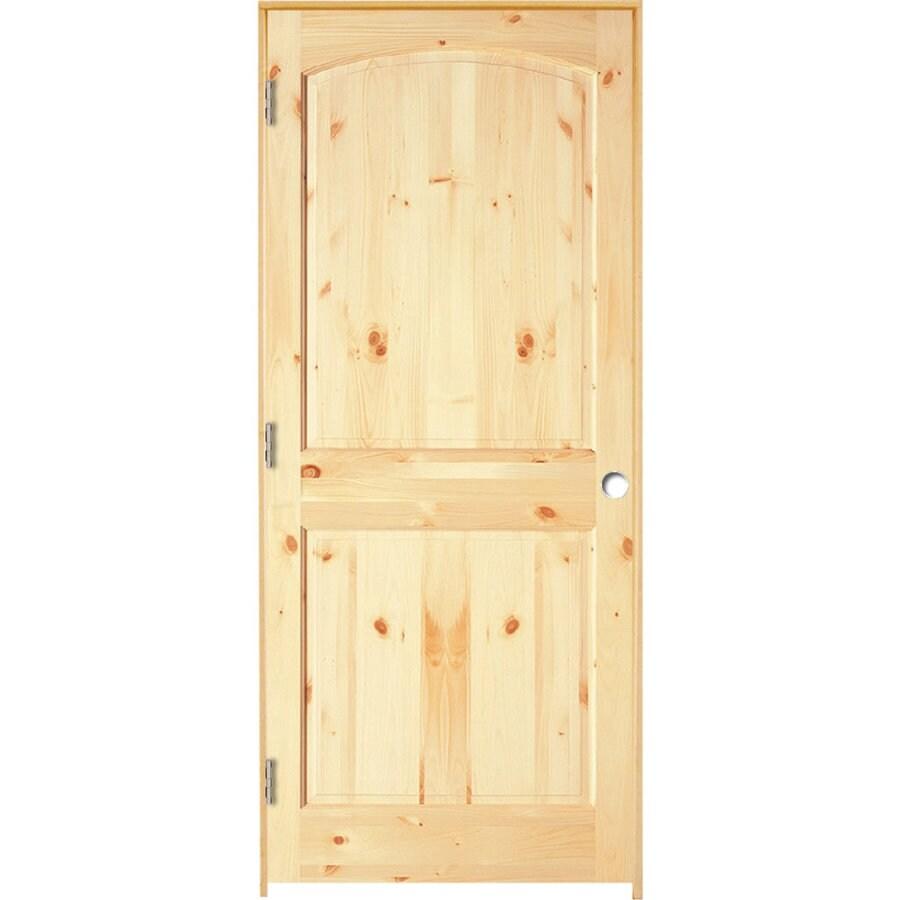 ReliaBilt Prehung 2-Panel Arch Top Pine Interior Door (Common: 24-in x 80-in; Actual: 25.5-in x 81.25-in)