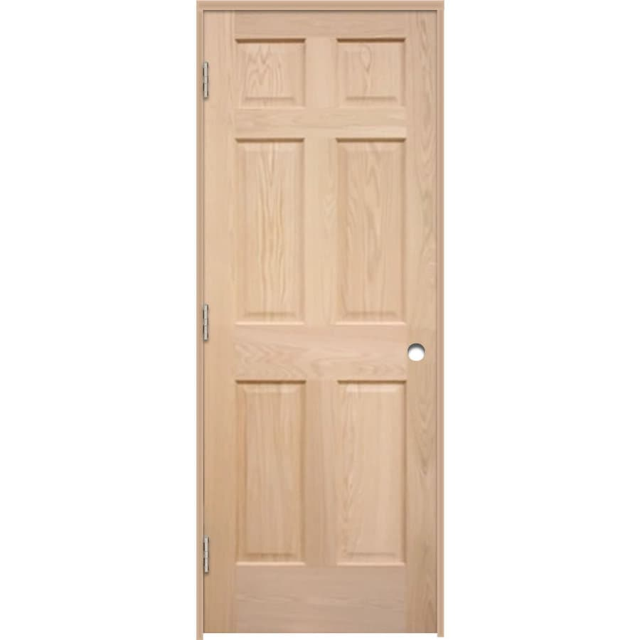 ReliaBilt Prehung 6-Panel Oak Interior Door (Common: 30-in x 80-in; Actual: 31.5-in x 81.25-in)