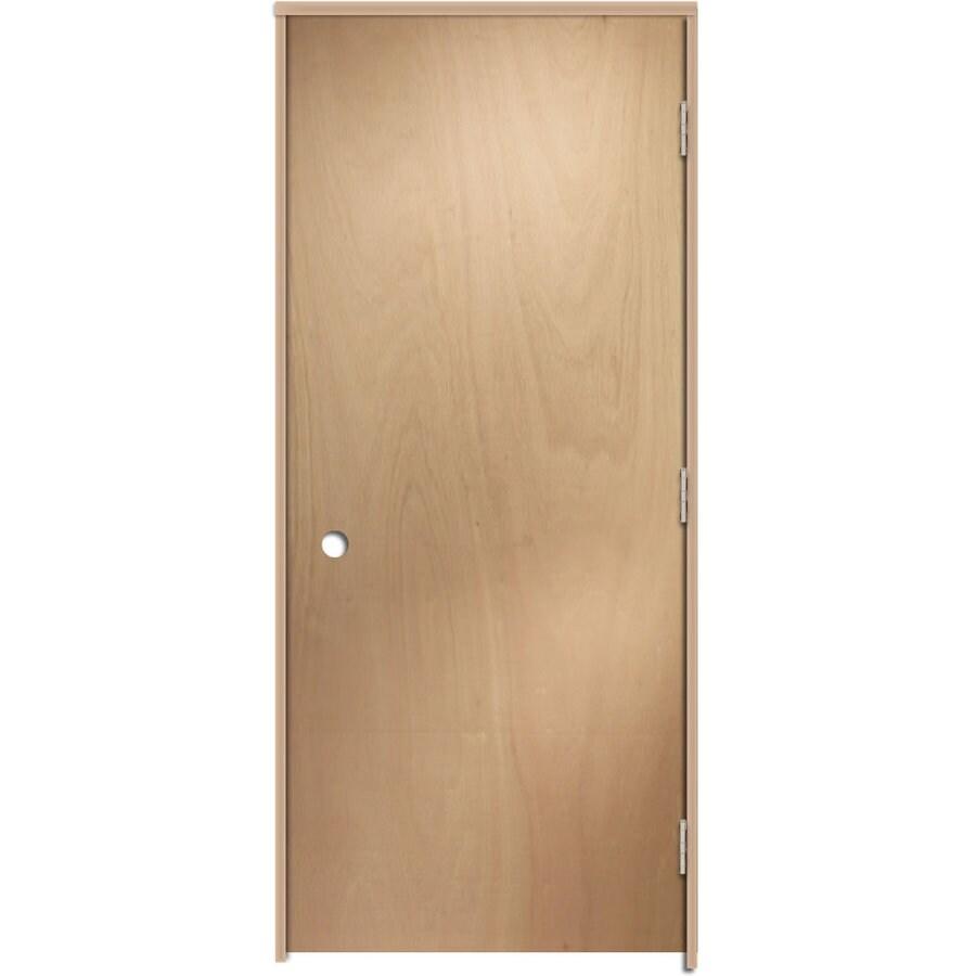 ReliaBilt Prehung Hollow Core Flush Lauan Interior Door (Common: 30-in x 80-in; Actual: 31.5-in x 81.25-in)