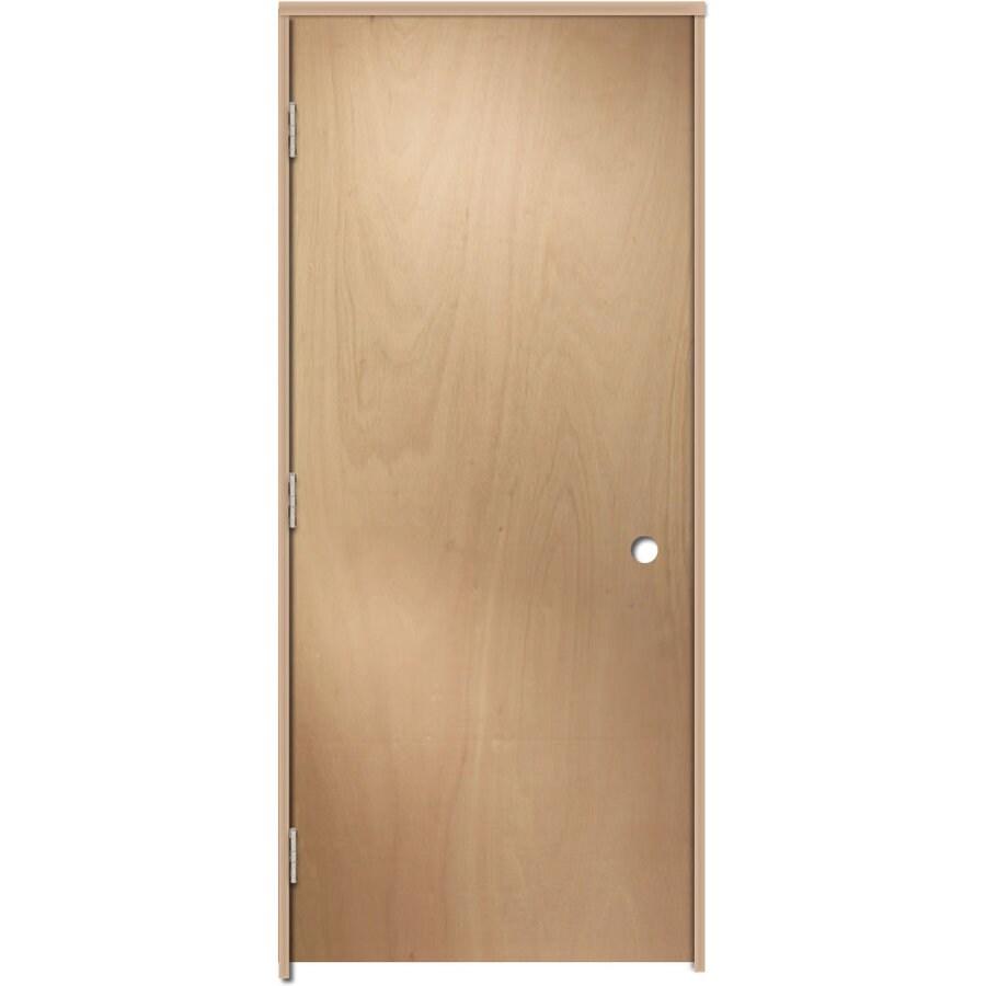 ReliaBilt Prehung Hollow Core Flush Lauan Interior Door (Common: 32-in x 80-in; Actual: 33.5-in x 81.25-in)
