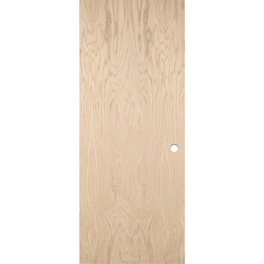 ReliaBilt Hollow Core Flush Oak Slab Interior Door (Common: 28-in x 80-in; Actual: 28-in x 80-in)