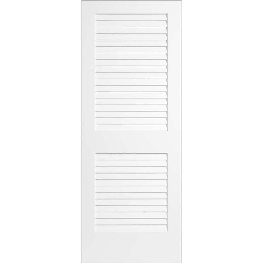 ReliaBilt White Plantation Louver Pine Slab Interior Door (Common: 30-in x 80-in; Actual: 30-in x 80-in)