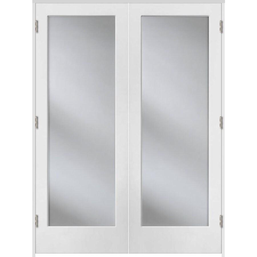 Shop Reliabilt Prehung 1 Lite Pine French Interior Door Common 60 In X 80 In Actual 61 5 In