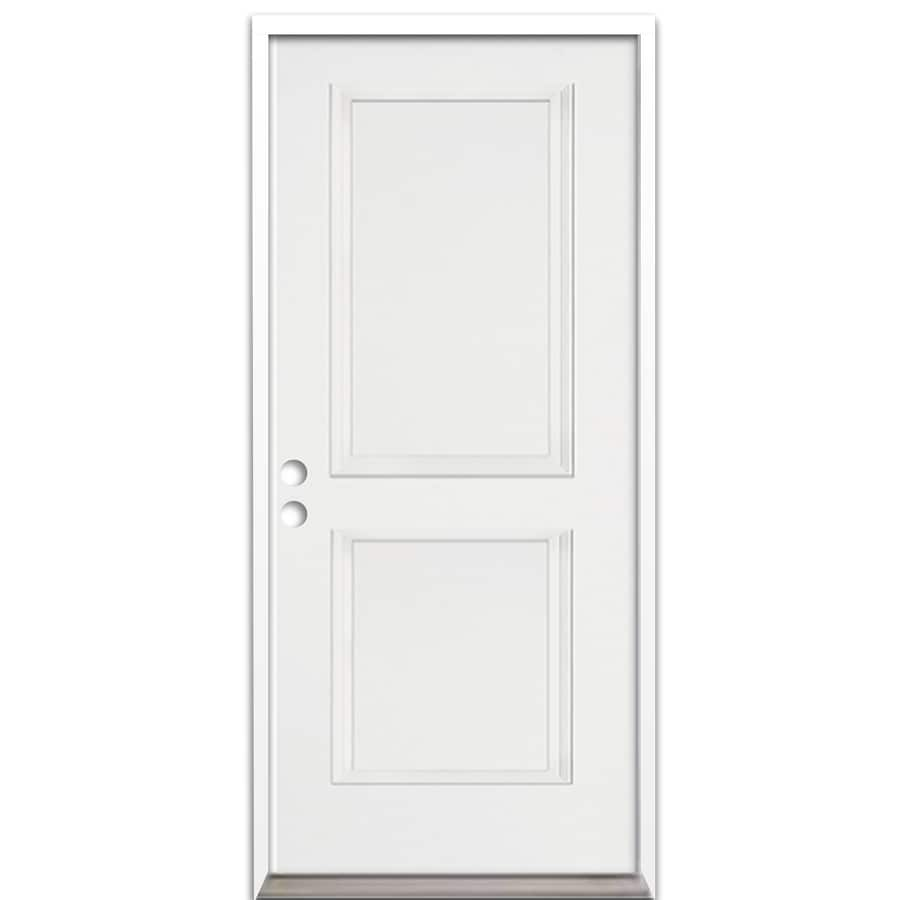 ReliaBilt 2-Panel Insulating Core Right-Hand Inswing Fiberglass Unfinished Prehung Entry Door (Common: 36-in x 80-in; Actual: 37.5-in x 81.625-in)