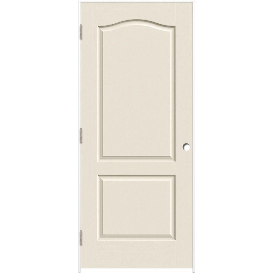 ReliaBilt Prehung Hollow Core 2-Panel Arch Top Interior Door (Common: 32-in x 80-in; Actual: 33.375-in x 81.312-in)